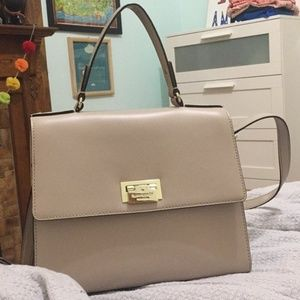 Kate Spade New York Beige/Gray Midsize Bag